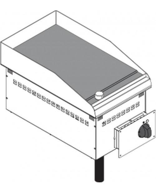 Fry-top electric, platou neted