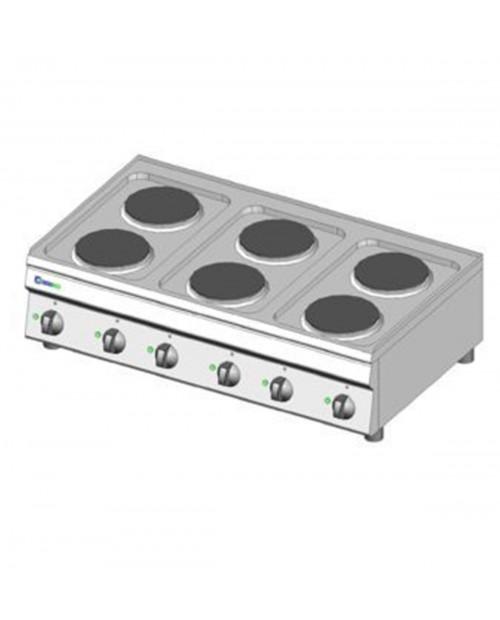 Masina de gatit electrica, 6 plite, alimentare 230V