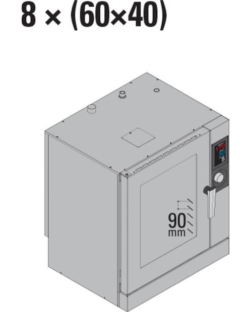 Cuptor cu aburi 8 × (60×40)