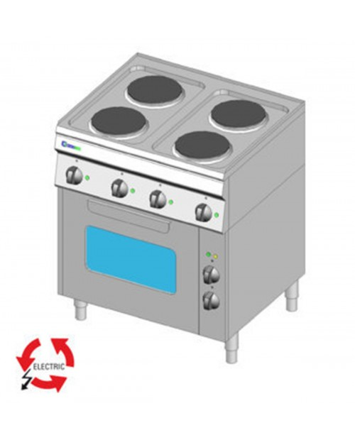 Masina de gatit electrica 4 plite, cuptor electric ventilat