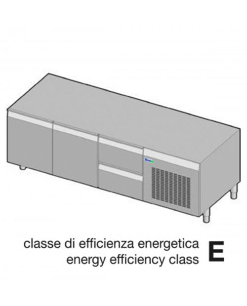 Suport neutru refrigerat GN1/1 - 2 usi, 2 sertare