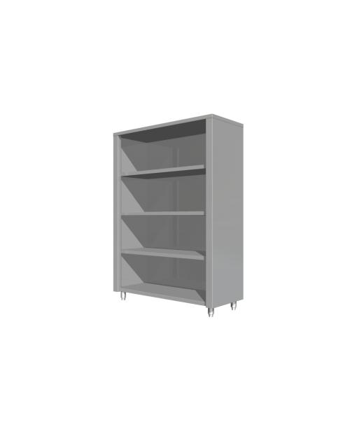 Dulap depozitare vertical, deschis-fara usi, trei polite intermediare,  (1000 - 1600 mm * 600 mm * 1600 mm)