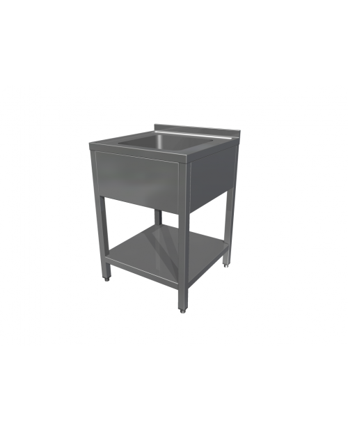 Spalator 1 cuva fara polita, rebord 100h mm, (500-700 x 600-700 x 850h)