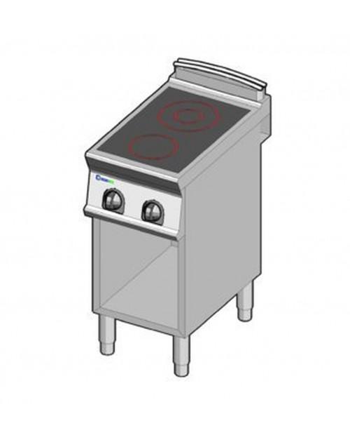 Masina de gatit electrica cu vitroceramica, 2 plite, cu suport