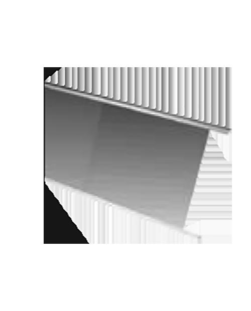 Rafturi din sticlă intermediară, cu lumină de plafon