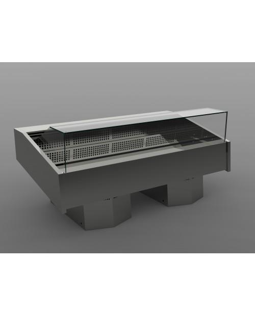 Vitrina frigorifica expunere peste, cu agregat incorporat, model NETTUNO