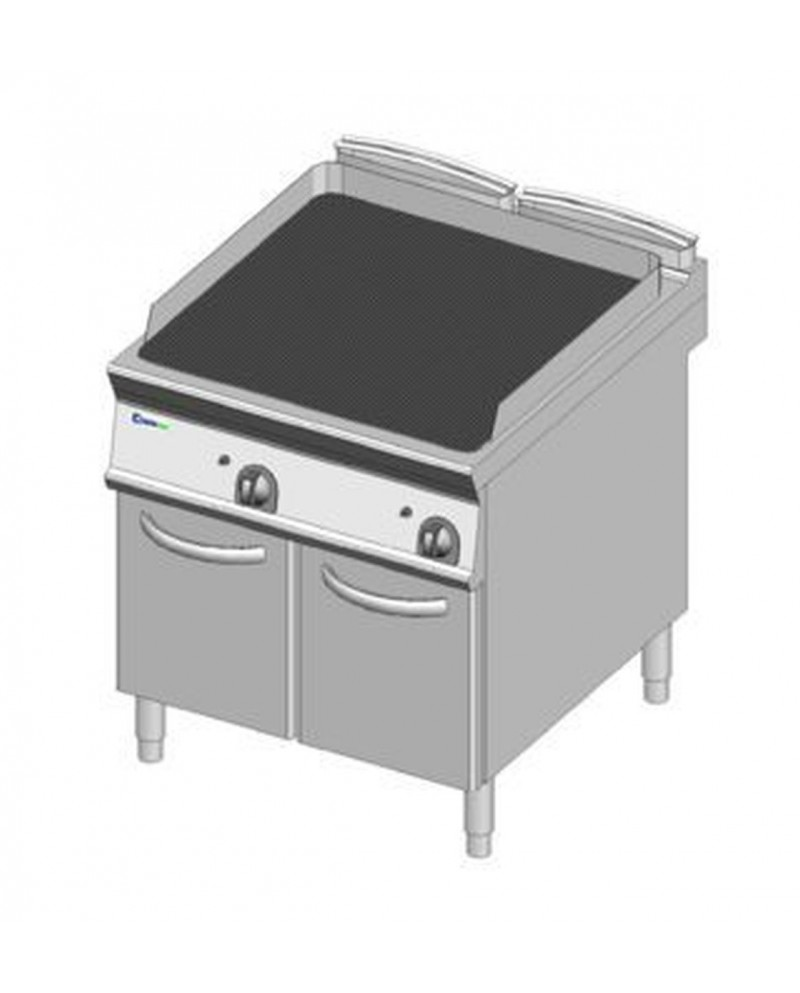 meta title-gas grill with cast iron grid