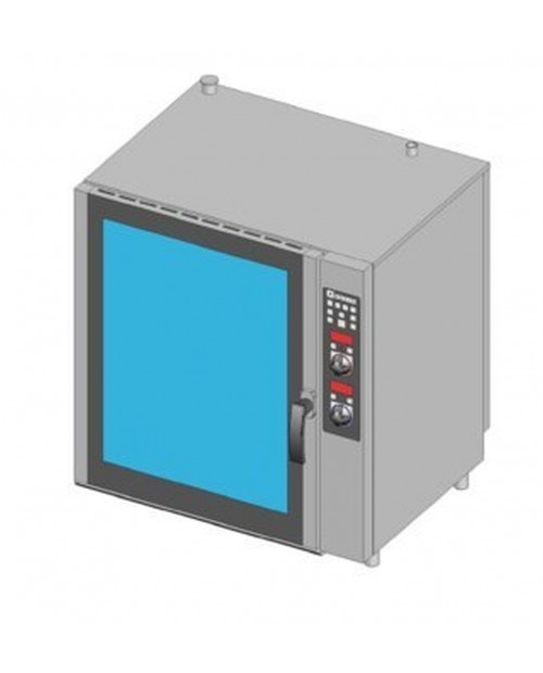 GAS COMBI OVEN, DIRECT STEAM, ELECTRONIC CONTROL, 6XGN1/1 TRAYS
