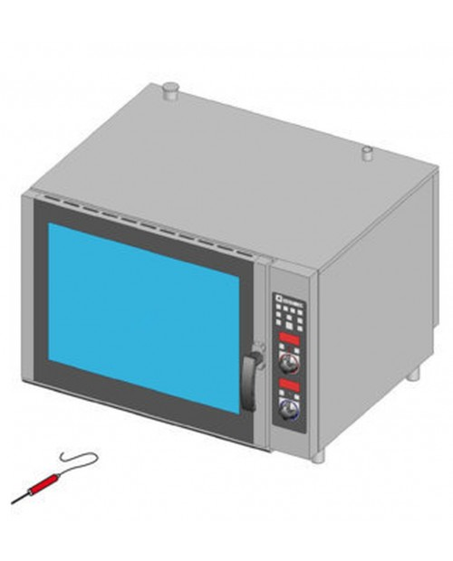Cuptor patiserie pe gaz, injectie directa, control electronic, tavi 5X(600X400)mm
