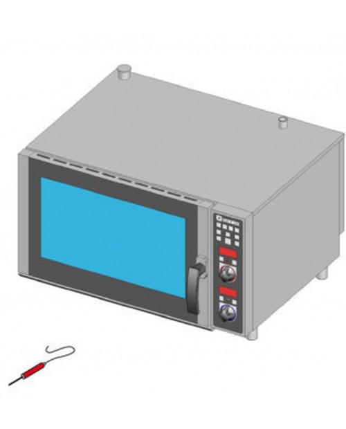Cuptor patiserie pe gaz, injectie directa, control electronic, tavi 6XGN1/1 sau 6X(600X400)mm