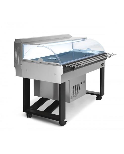 Vitrina frigorifica FISH INOX cu rafturi