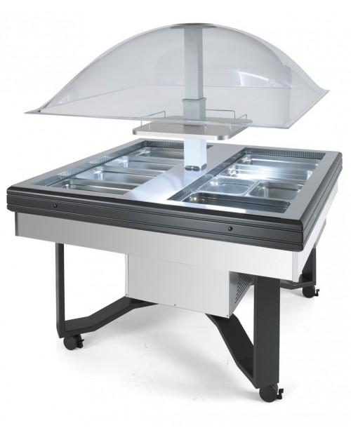 Bufet refrigerat inox tip cupola