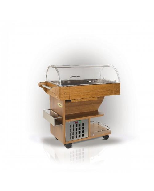 Bufet refrigerat tip carucior din lemn