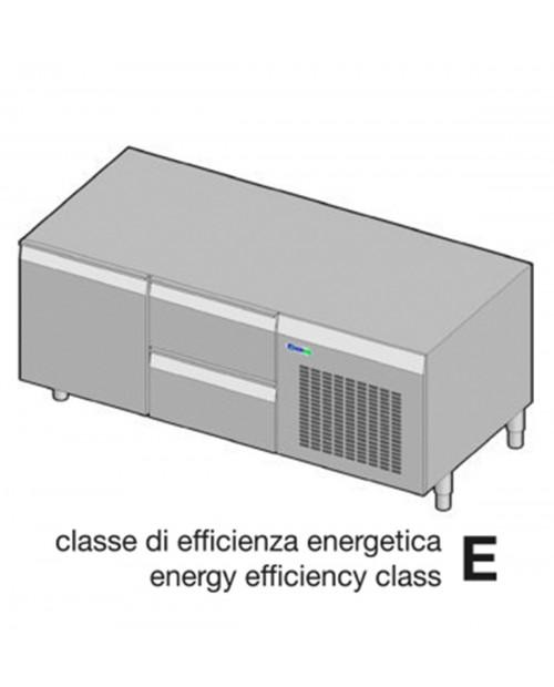 Suport neutru refrigerat GN1/1 - 1 usa, 2 sertare