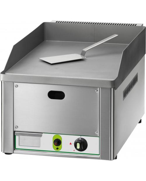 Fry-top pe gaz (kit GPL inclus), cu o suprafata neteda, din otel