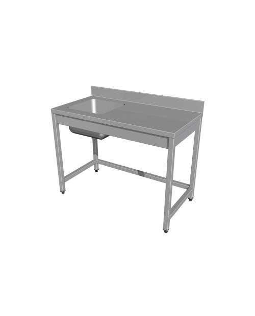 Masa cu spalator, fara polita, cuva pe stanga, tip U, (800 - 2000 mm * 600 mm * 850 mm)