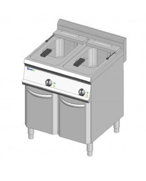 Friteuza electrica cu suport 14 litri + 14 litri
