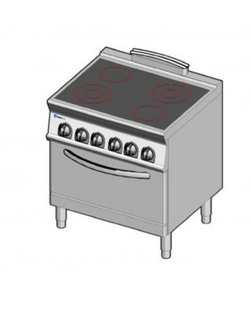 Masina de gatit electrica cu vitroceramica, cuptor electric GN2/1