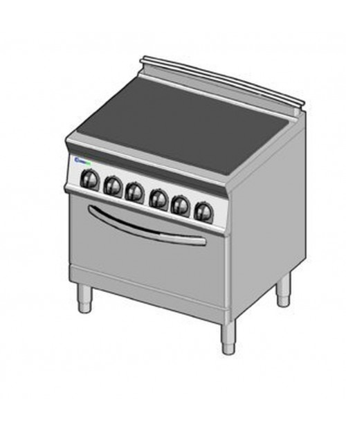 Masina de gatit electrica cu un singur platou, cuptor electric GN2/1