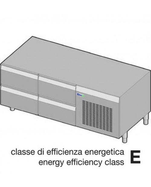 Suport neutru refrigerat GN1/1 - 4 sertare