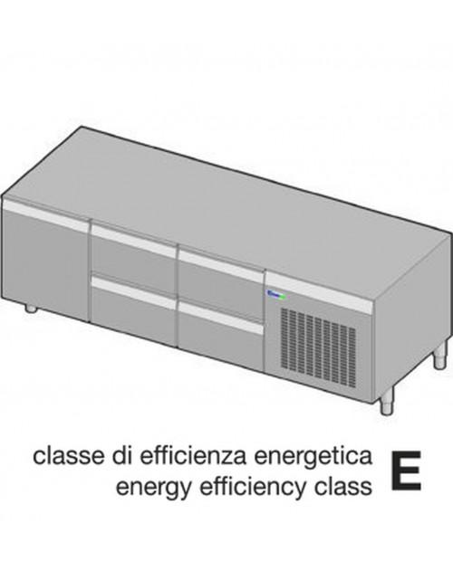Suport neutru refrigerat GN1/1 - 1 usa, 4 sertare