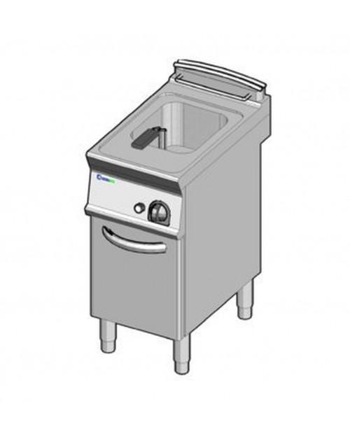 Friteuza pe gaz, 1 incinta, 13 litri, cu tanc intern interschimbabil