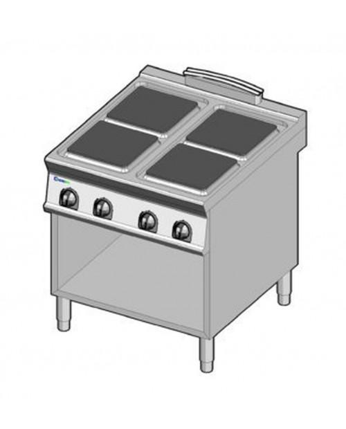 Masina de gatit electrica, 4 plite, suport propriu