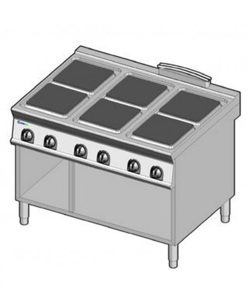 Masina de gatit electrica, 6 plite, suport propriu