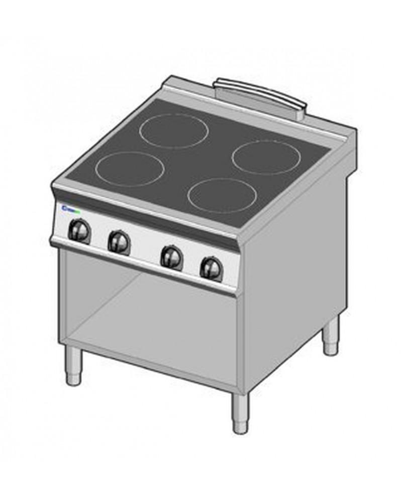 Masina de gatit electrica cu inductie, 4 zone, cu suport