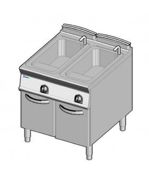 Masina de gatit paste pe gaz 40LT+40LT GN1/1